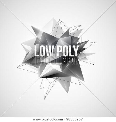 Low poly triangular background. Design element. Vector illustration