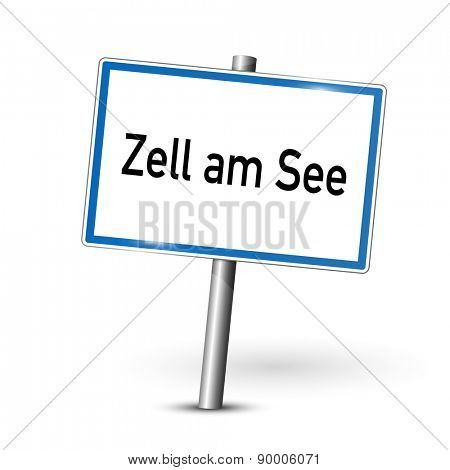 City sign - Zell am See - Austria