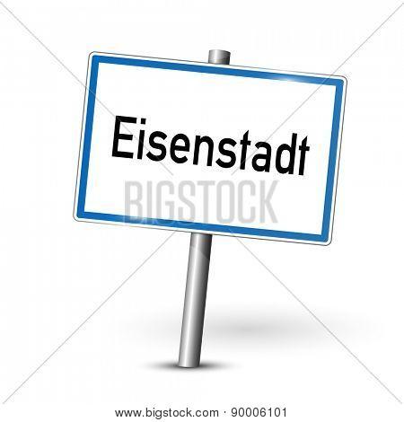 City sign - Eisenstadt - Austria