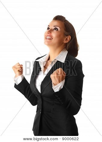 successful modern business woman isolated on white background