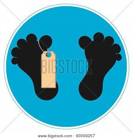Sign Feet Dead