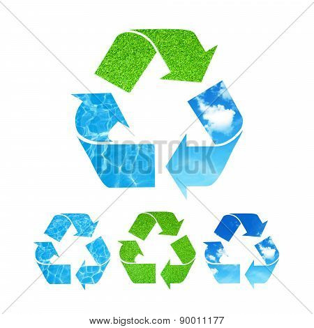 Ecological recycle symbol