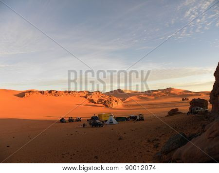 camp in the Algerian desert