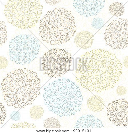 Vector blue brown abstract seaweed texture seamless