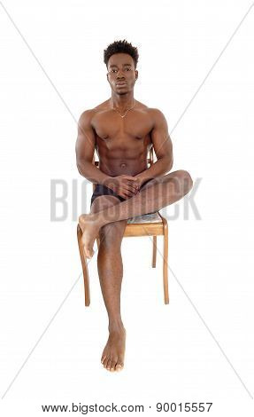 Young Black Man On Chair.
