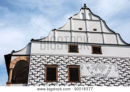 The sundial in the castle Velke Losiny