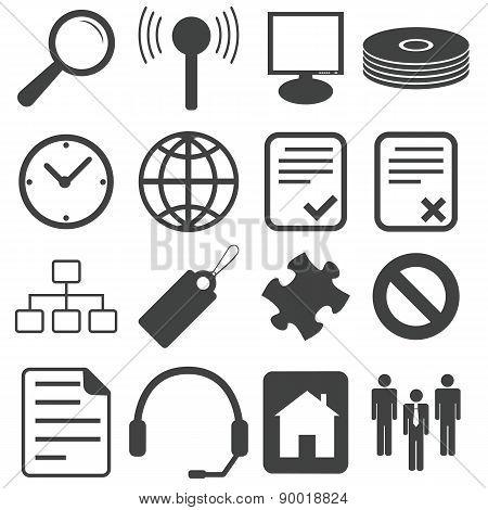 Simple black icon set