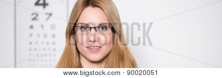 Woman At Oculist's Office