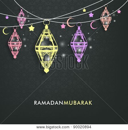 Beautiful Elegant Ramadan Mubarak Lanterns or Fanous