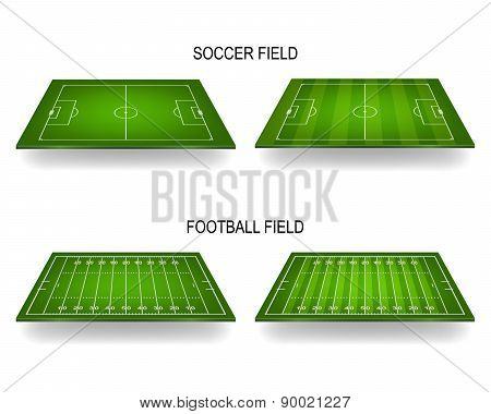 Soccer And Football Fields