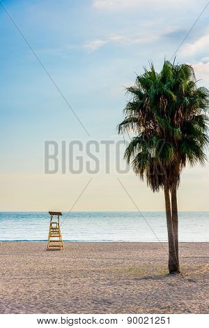 Marbella Beach In Evening Light (vertical)