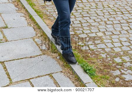 Woman Walks Equilibrium