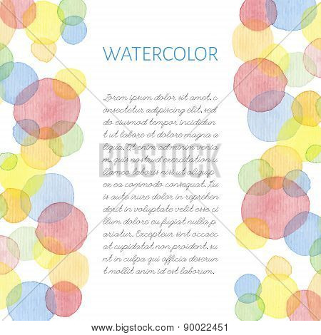 Hand painted water color card