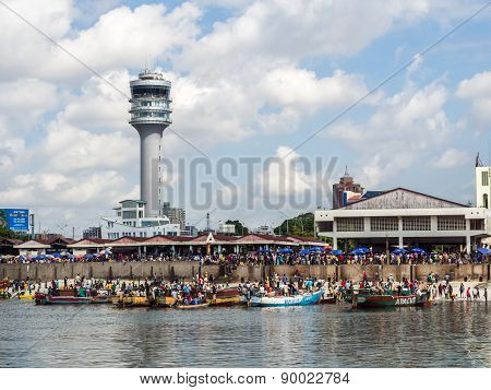 Waterfront in Dar es Salaam, Tanzania