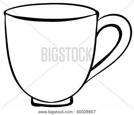 Closeup plain design of coffee cup
