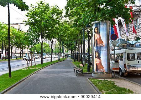 Advertising For Lingerie Products Downtown Vienna