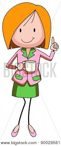 Close up businesswoman holding a coffee cup