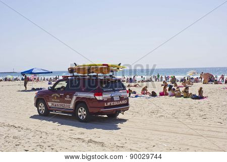 Lifeguard Vehicle On Mission Bay Beach