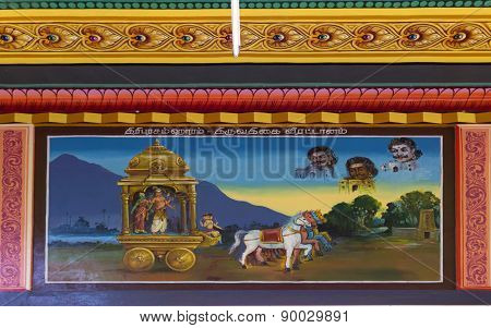Painting Of Legend Of Thriuvathigai Temple.
