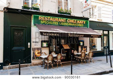 Liban Moroccan Cusine Restaurant Cafe Bistro In The Heart Of Paris, France