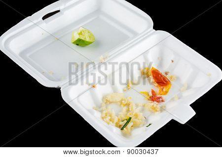 Food Waste In Foam Box
