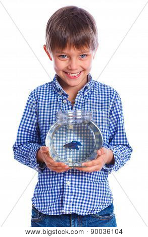 Boy with a fish.