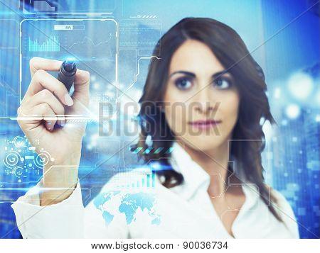 Futuristic computer interface