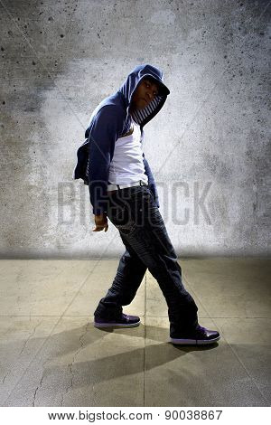 Urban Hip Hop Dancer Wearing a Hoodie