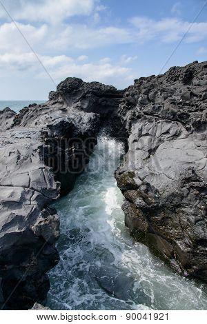 Landscape Of Coast In Jeju, Korea.