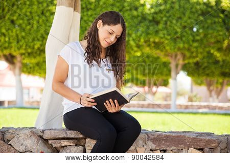 Relaxing And Reading At School