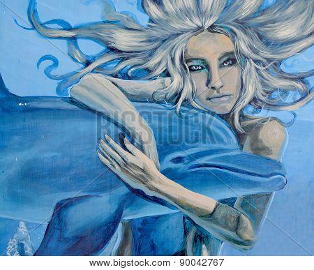 Mural sea Goddess