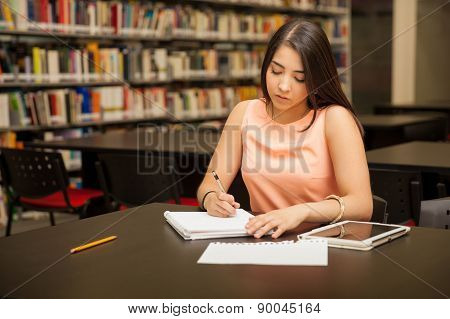 Student Busy With Work