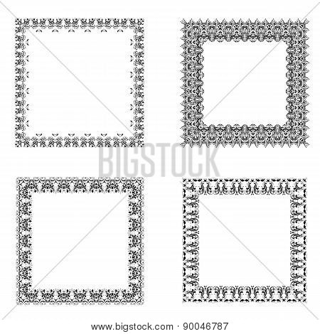 Set Of Ornate Frames.
