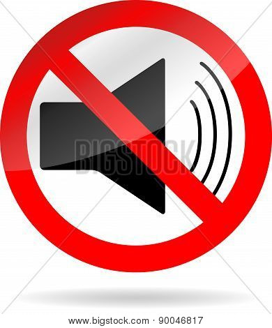 Sign Icon Ban Sound