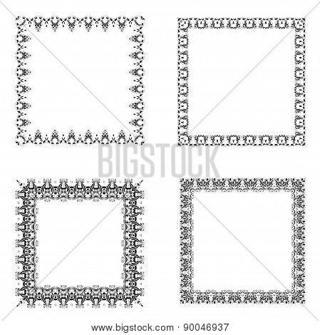 Set Of Ornate Frames.