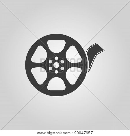 The Video Icon. Movie Symbol. Flat