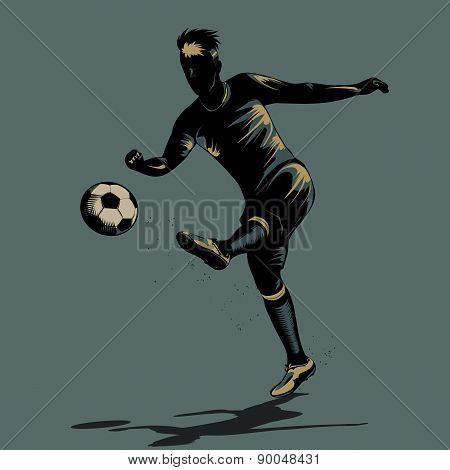 Abstract Soccer Half Volley