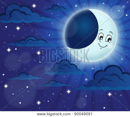 Night sky theme image 6 - eps10 vector illustration.