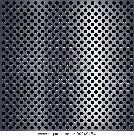 Metal Plate With Holes.