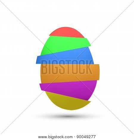 Chicken Multicolored Egg.