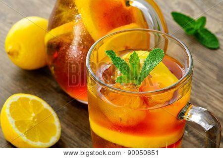 Cold iced tea