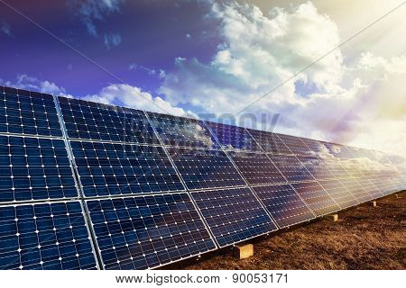 Solar Panels And Sunlight