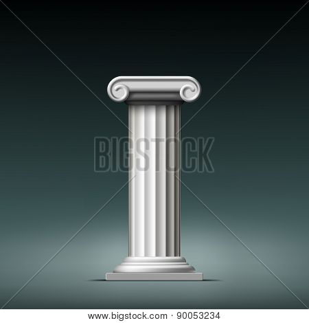 Antique White Column.