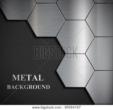 Background Of The Metal Plates.