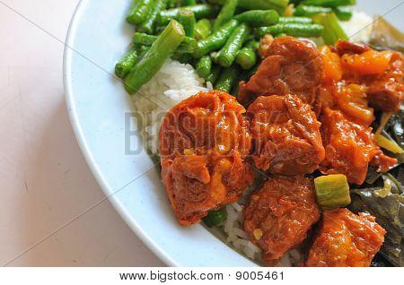 Chinese Vegetarian Mock Chicken Cuisine