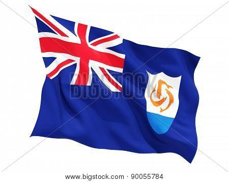 Waving Flag Of Anguilla