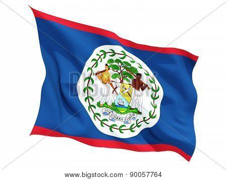 Waving Flag Of Belize
