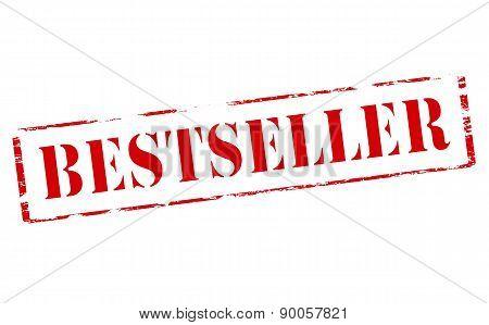 Rubber stamp with word bestseller inside vector illustration