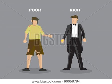 Rich Man Poor Man Vector Illustration