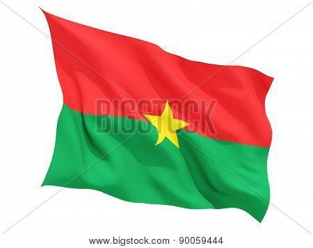 Waving Flag Of Burkina Faso